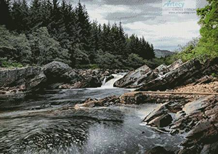 cross stitch pattern River Orchy