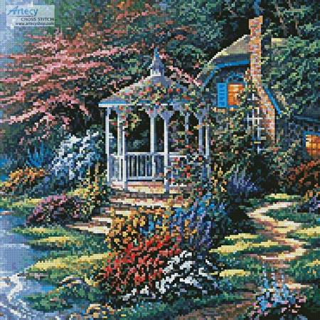 cross stitch pattern Secret Hideaway (Crop)