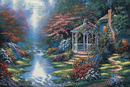 cross stitch pattern Secret Hideaway (Large)