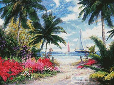 cross stitch pattern Sea Breeze Trail
