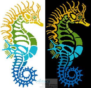 cross stitch pattern Seahorse Design 2