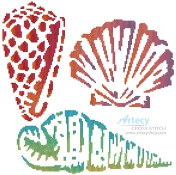 cross stitch pattern Sea Shells