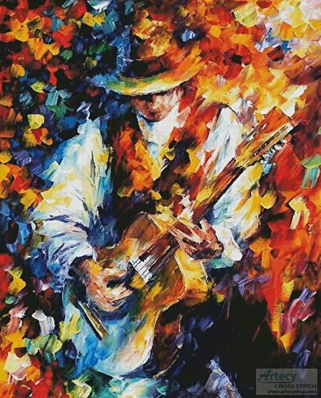 cross stitch pattern Sing my Guitar (Large)