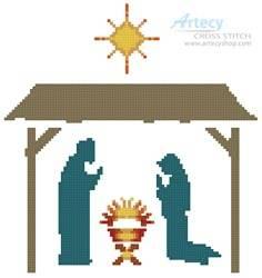 cross stitch pattern Small Nativity