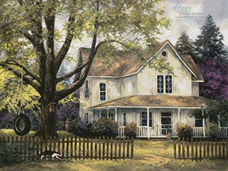 cross stitch pattern Simple Country