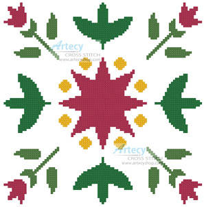 cross stitch pattern Starflower Design