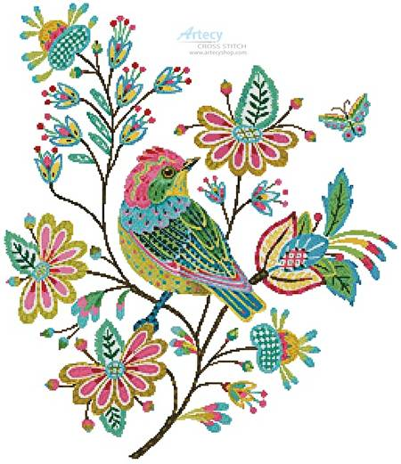 cross stitch pattern Stitchbird Titmouse