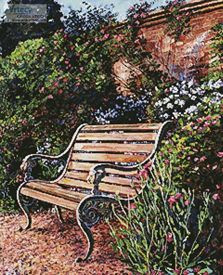 cross stitch pattern Sitting in the Garden