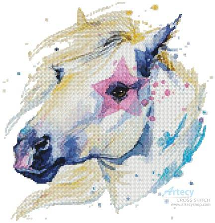 cross stitch pattern Star Horse