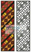 cross stitch pattern Tribal Bookmark