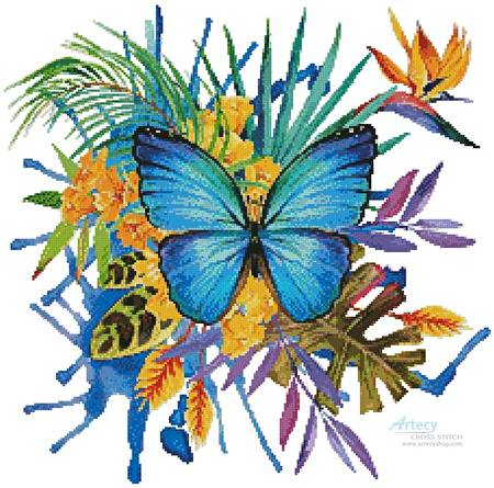 cross stitch pattern Tropical Butterfly 2