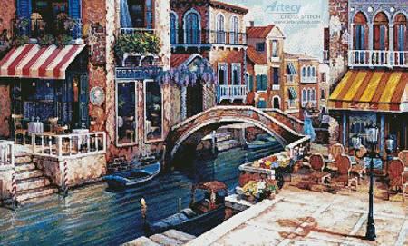 cross stitch pattern Venetian Serenade