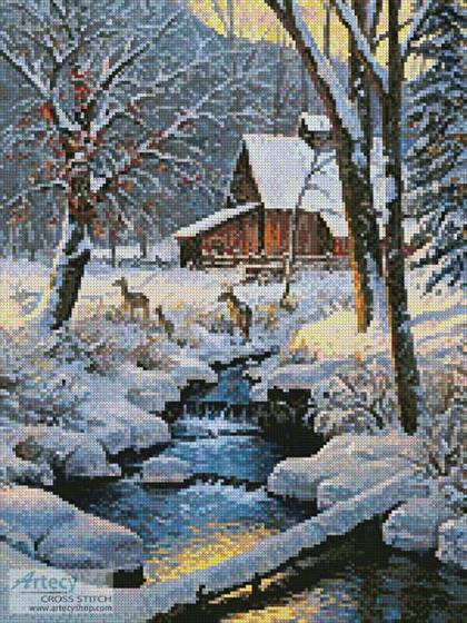 cross stitch pattern Warm and Cozy (Crop 2)
