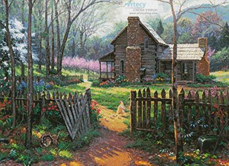 cross stitch pattern Welcome Spring