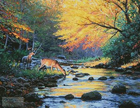 cross stitch pattern Wild America