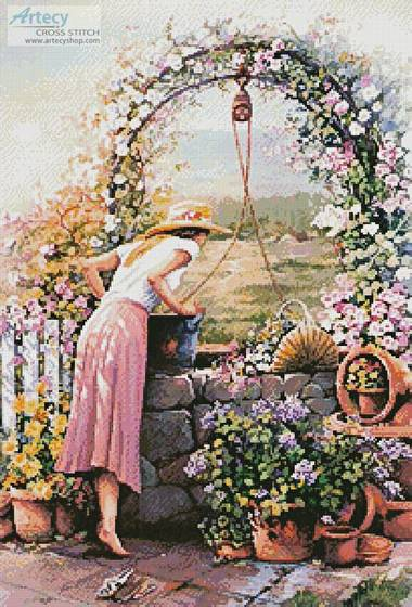 cross stitch pattern Wishing Well