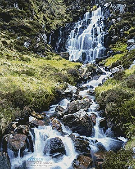 cross stitch pattern Waterfall