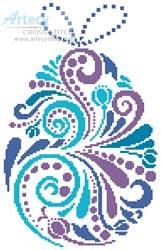 cross stitch pattern Abstract Easter Egg 1