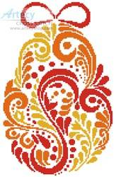 cross stitch pattern Abstract Easter Egg 2