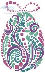 cross stitch pattern Abstract Easter Egg 3