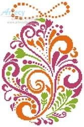 cross stitch pattern Abstract Easter Egg 4