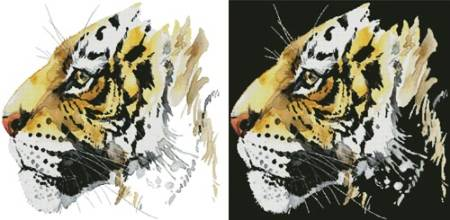 cross stitch pattern Abstract Tiger