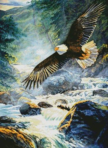 cross stitch pattern American Majesty