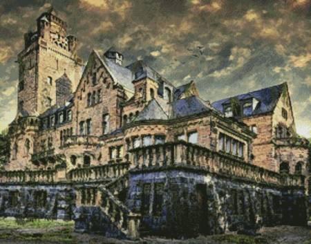 cross stitch pattern Artistic Castle