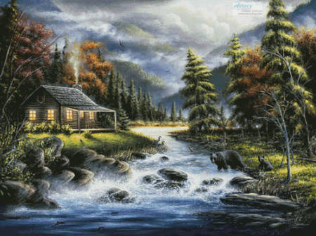 cross stitch pattern As Autumn Approaches (Large)