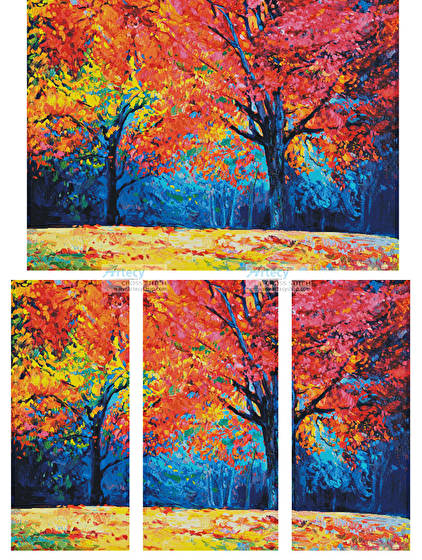 cross stitch pattern Autumn Landscape Abstract (Large)