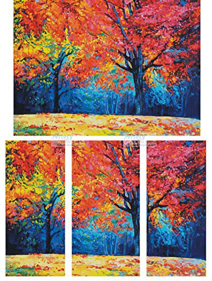 cross stitch pattern Autumn Landscape Abstract (Large)