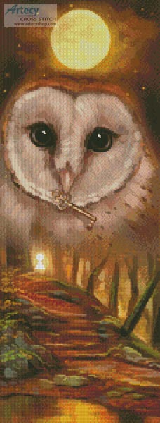 cross stitch pattern Autumn Owl