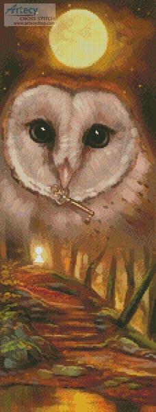 cross stitch pattern Autumn Owl