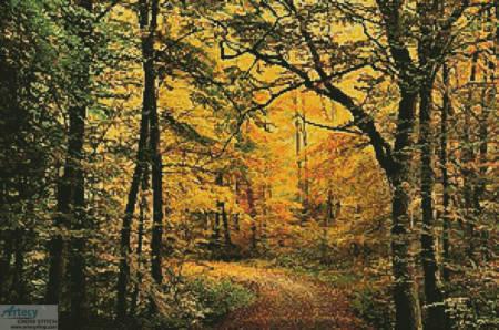 cross stitch pattern Autumn Forest