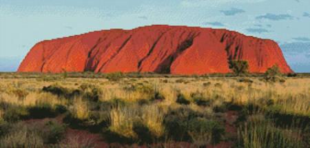 cross stitch pattern Ayers Rock Photo (Uluru)