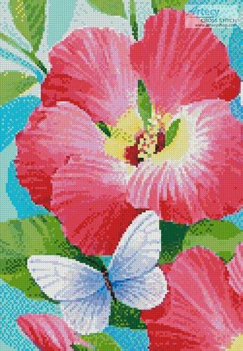 cross stitch pattern Butterfly Violet (Crop)