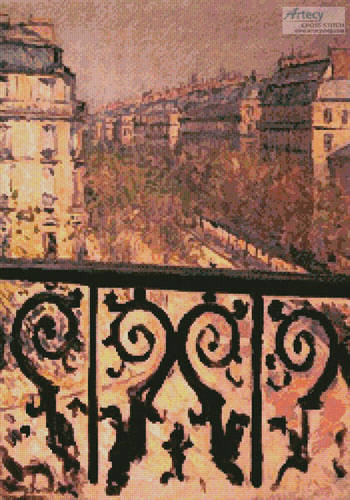 cross stitch pattern A Balcony in Paris