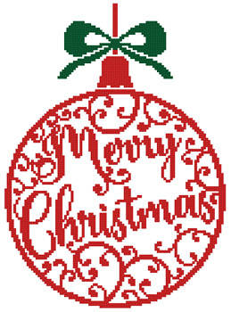 cross stitch pattern Christmas Bauble 1
