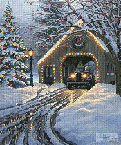 cross stitch pattern Christmas Crossing (Crop)