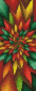 cross stitch pattern Christmas Fractal Bookmark