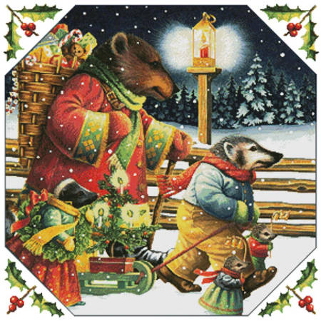 cross stitch pattern Christmas Journey