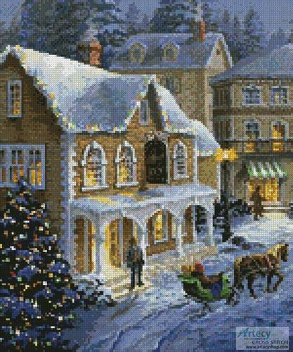 cross stitch pattern Christmas Village (Crop 1)