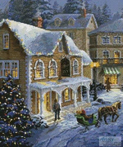cross stitch pattern Christmas Village (Crop 1)