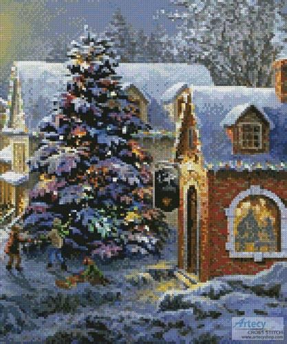 cross stitch pattern Christmas Village (Crop 3)