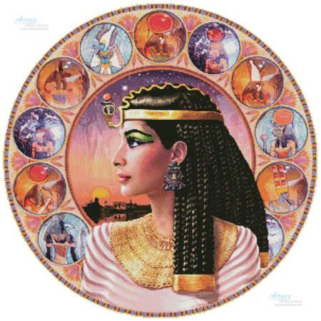 cross stitch pattern Cleopatra Circle (Left)