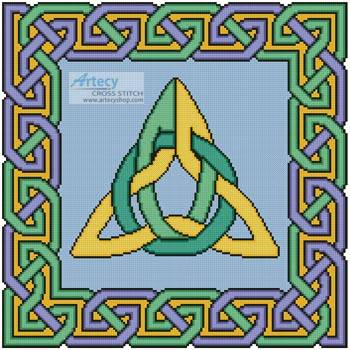 cross stitch pattern Celtic Square 1