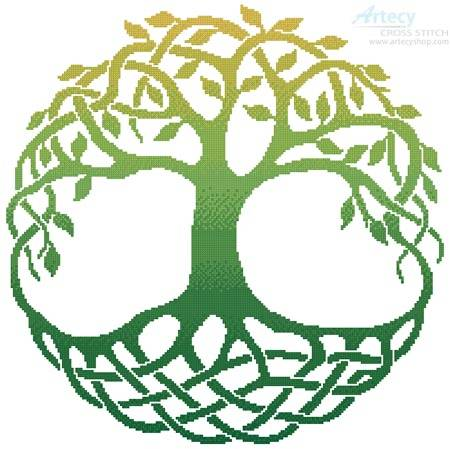 cross stitch pattern Celtic Tree of Life 1