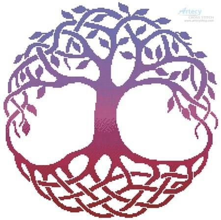 cross stitch pattern Celtic Tree of Life 2