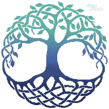 cross stitch pattern Celtic Tree of Life 3