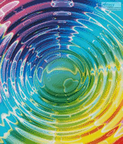 cross stitch pattern Colourful Waves (Crop)